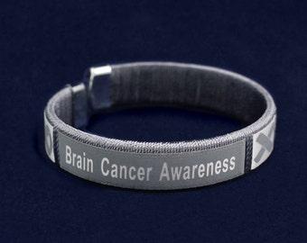 Brain cancer awareness bangle bracelet
