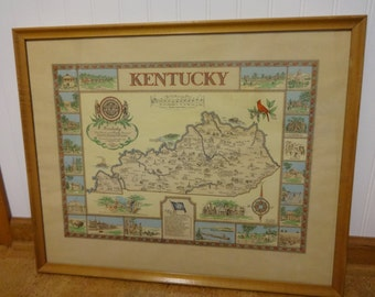 maps framed maps kentucky map framed kentucky map historical maps framed historical maps historical kentucky map map print state map