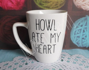 Howl Ate My Heart, Howls moving castle, miyasaki, ceramic mug