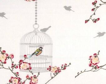 Au maison oilcloth Birdcage white bird cage coated cotton