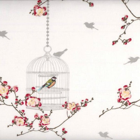 Au maison oilcloth birdcage white bird cage coated cotton for Au maison oilcloth