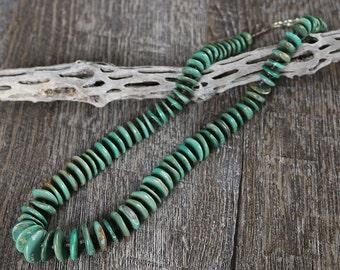 native american jewelry,santo domingo,santo domingo jewelry,turquoise,native,turquoise necklace, Santo Domingo Pueblo Turquoise Necklace