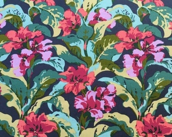 "Bright Heart by Amy Butler from Free Spirit Fabrics in ""Tropi Canna"" pattern."