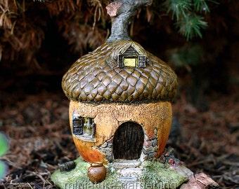 Acorn Fairy House for Miniature Garden, Fairy Garden