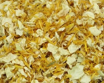 1L Gold and Cream Petal Confetti - Marigold and Cream Rose
