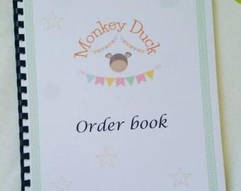 Business Order Book Printable, order book, social media tracker, business planner, business organizer, business order book, order book,