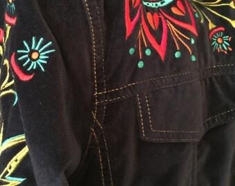 Bob Mackie Blue Jacket - Wearable Art - Large