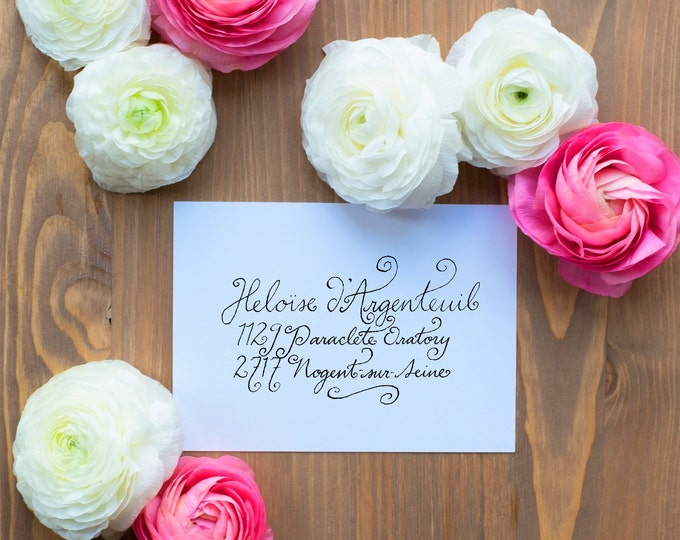 Hand-Addressed Calligraphy Invitation - Affordable - Wedding - Party - Selcouth
