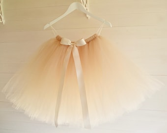 Tutu, girls tutu skirt, light gold tutu, flower girl tutu, tutu dress, tulle skirt, baby tutu, tulle tutu, tutu skirt, flower girl dress