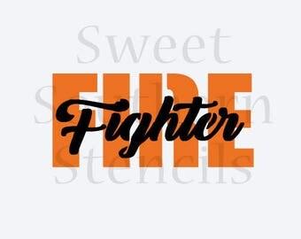 Fire Fighter 2 Step Cookie Stencil
