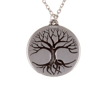 Tree of life disc pendant- Hand Made in UK