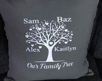 Family tree cushion cover and cushion (50cm x 50cm)