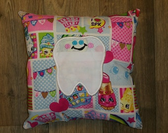 Shopkins Tooth Fairy Pillow - Tooth Fairy Pillow - Shopkins - Tooth Pillow