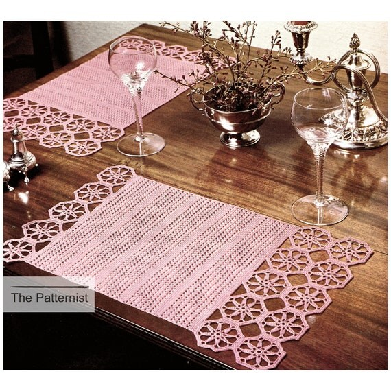Vintage Crochet Pattern Octagon Motif Placemats Table Mats Home Decor PDF  Instant Download SKU 16 2 From ThePatternist On Etsy Studio