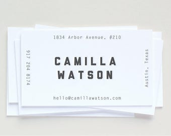 Custom Letterpress Business Cards | Minimal + Trendy | Set of 100