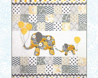 Mommy & Me -- Quilt Pattern by Colette Belt for QP Designs -- #QP1401 -- Mom and Baby Elephants