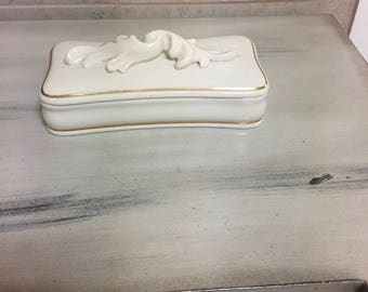 Lenox porcelain trinket box