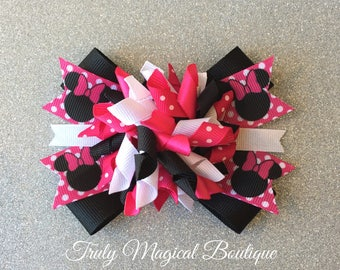 Minnie Mouse Bow | Minnie Mouse Hair Bow | Minnie Mouse Hair Bows | Minnie Mouse Inspired Hair Bow | Disney Bows | Disney Hair Bows