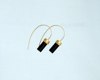 ATTALUS ebony earrings II : modern bronze earrings