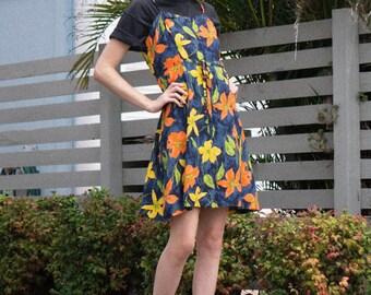Vintage 90s dress || 90s dress || 90s floral dress || vintage floral dress || floral slip dress || 90s daisy dress