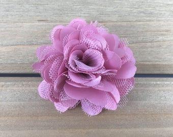 2 inch Dusty Rose Flower, Small Dusty Rose hair flower, DIY headband supplies, DIY hair bow flower, hair flower
