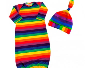 Rainbow baby gowns, Light weight, coming home outfit, soft, baby pjs, sleep sacks, babies, baby girl, baby boy, gender neutral, baby gift
