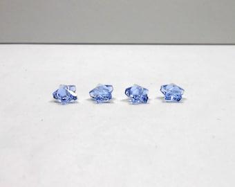 4 Light Sapphire Swarovski Star Crystal Beads, 8x8mm Swarovski Star Beads, Loose Beads, Jewelry Making, Jewelry Supplies, Craft Supply