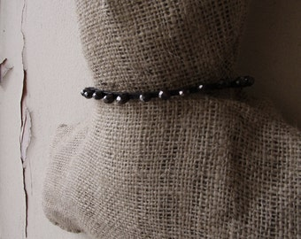 Leather Choker, Beaded Choker, Leather Necklace, Modern Jewelry, Minimalist Necklace, Leather Jewelry, Avant Garde Necklace, Artemisia