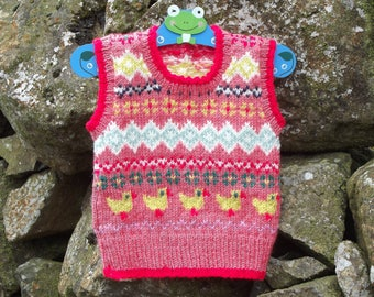 Babies Fair Isle Tank Top