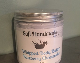 8 oz Blueberry Cheesecake Whipped Body Butter, Body Butter, Shea Body Butter, Shea Butter, Summer Skin Care