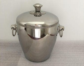 Retro Ice Bucket w/ Liner , Made in France by Letang Remy, INOX 18/10, Barware,