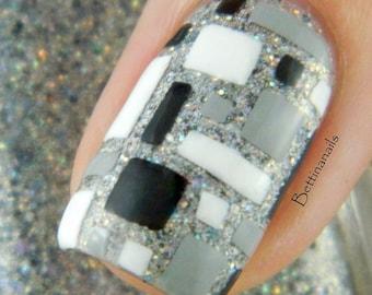 Mosaic Nail Art, Nail Vinyls, Nail Stencils, Nail Decals, Nail Stickers 20 count