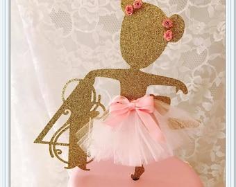 Ballerina Cake Topper - Ballerina Party Decorations - Ballerina Party Decor - Ballerina Centerpiece - Ballerina Birthday Party Cake Topper