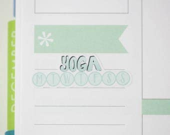 36 Yoga Daily Habit Stickers  | Planner Stickers designed for use with the Erin Condren Life Planner | 0697