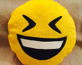 emoji pillow etsy. Black Bedroom Furniture Sets. Home Design Ideas