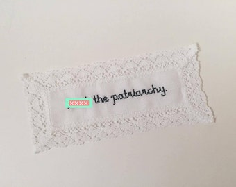 Feminist Cross-Stitch Bookmark - Subversive Cross-Stitch - Feminism