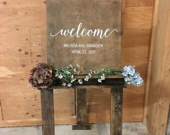 Wood Easel (rustic wedding decor, rusting wood decor, wood easel, painters easel, sign holding easel, display easel)