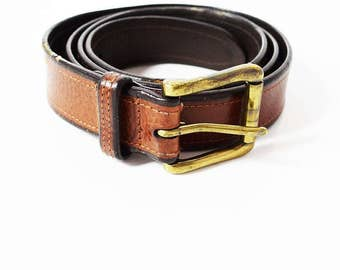 Polo Ralph Lauren Original Vintage Leather Belt Brown