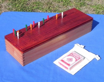 Handcrafted Four Player Cribbage board