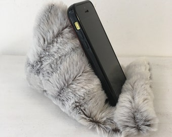 Mobile Phone Stand, Mobile Holder, Phone Holder, Fluffy Phone, Phone Accessories, Gift for Her, Teenager Gift, Home Decor,
