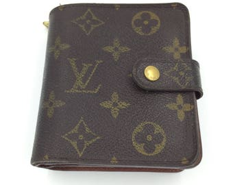 Louis Vuitton Wallet Louis Vuitton Monogram Purse LV Wallet Vuitton Zip Wallet Authentic Vintage Designer Wallet Louis Vuitton Repair