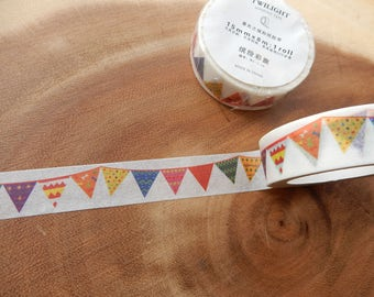 Bunting Flag Washi Tape, Bunting Flags, Cardmaking, Crafting Decal, Card Decoration, Adhesive Tape