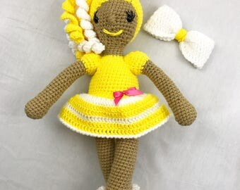 Sunny Yellow African American Doll