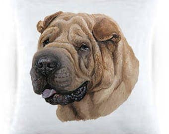 Shar Pei Satin Throw Pillow 44053