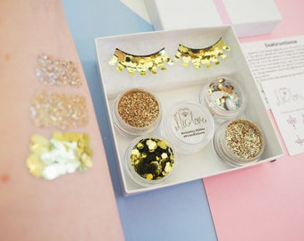 Gold Mermaid Cosmetic Face Glitter Pack