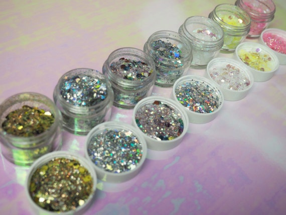 Extra Chunky Cosmetic Face Glitter Set