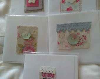 Set of 5 Greeting cards - Free postage