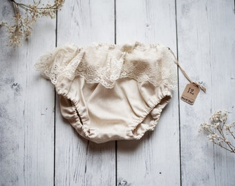 Ivory and Lace Fringe Bloomers