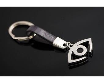 Eye keychain,evil eye keychain,stainless steel,birthday gift,men's fashion, men accessories,men's fashion,avant garde design