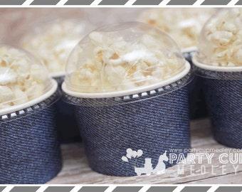 Diamonds and Denim Birthday Party Supplies-Denim Snack Cups